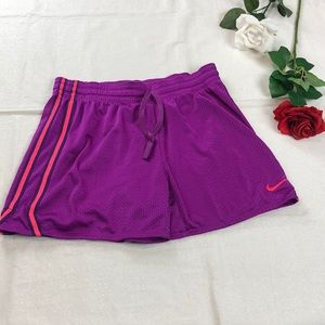Nike Shorts Purple with Blue And Pink Stripe S